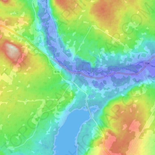 Zealand topographic map, relief map, elevations map