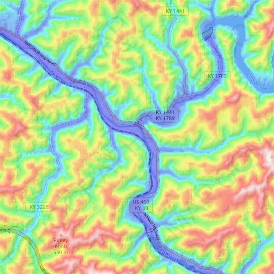Nelse topographic map, relief map, elevations map
