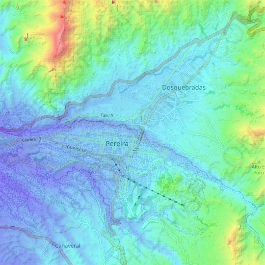 America topographic map, relief map, elevations map