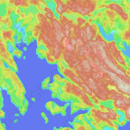 Clubbe Lake topographic map, elevation, relief
