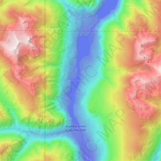 Little Lillooet Lake topographic map, elevation, relief